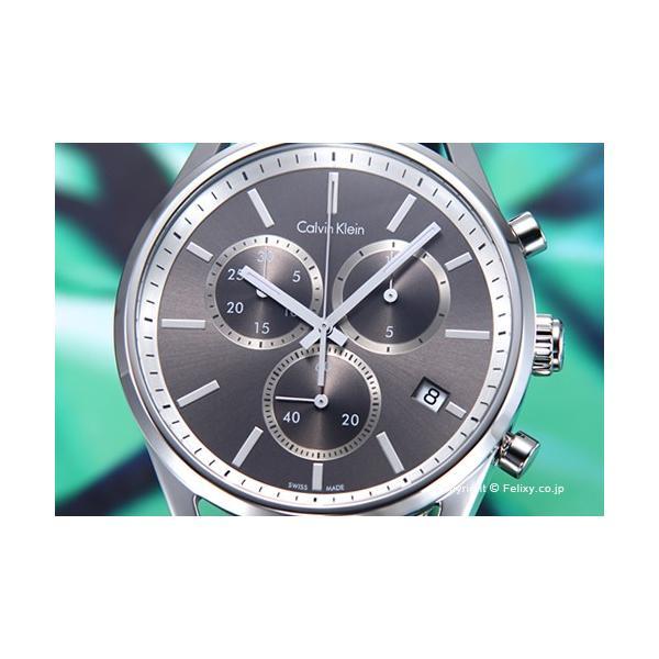 カルバンクライン Calvin Klein 腕時計 メンズ K4M271C3 フォーマリティ クロノ アンスラサイト|trend-watch|02