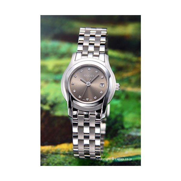 グッチ 腕時計 レディース GUCCI YA055523 G-クラス ブラウン(With11Pダイヤモンド)|trend-watch