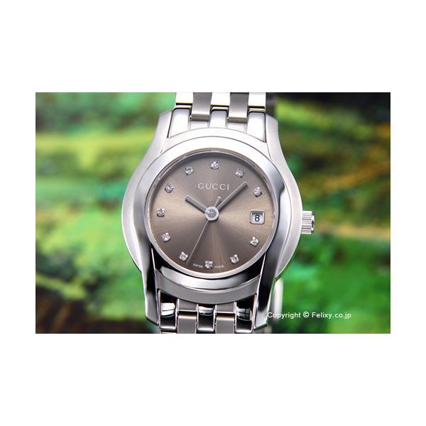 グッチ 腕時計 レディース GUCCI YA055523 G-クラス ブラウン(With11Pダイヤモンド)|trend-watch|02