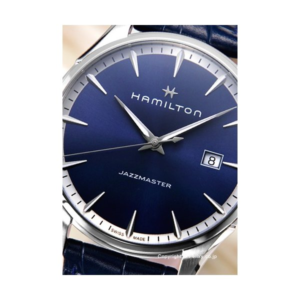 ハミルトン HAMILTON 腕時計 Jazzmaster Gent ブルー H32451641|trend-watch|02