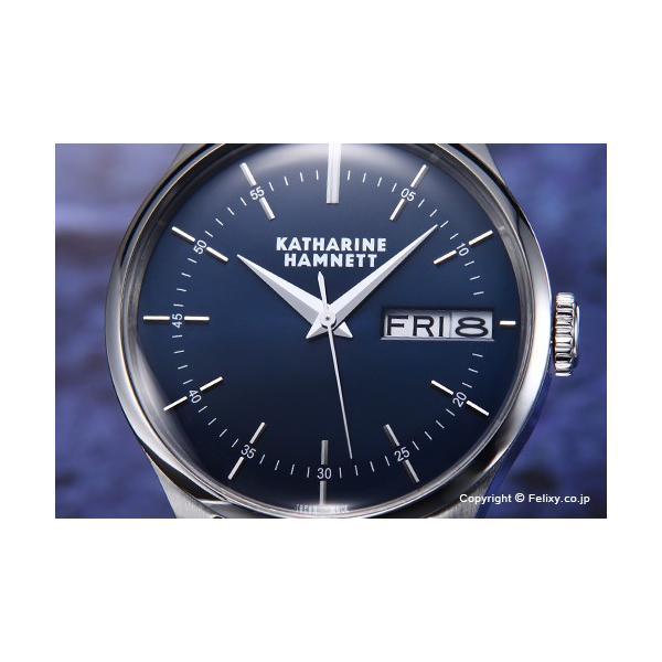 キャサリンハムネット 腕時計 メンズ KH20G5-B64 ENGLISH SLICK ネイビー|trend-watch|02