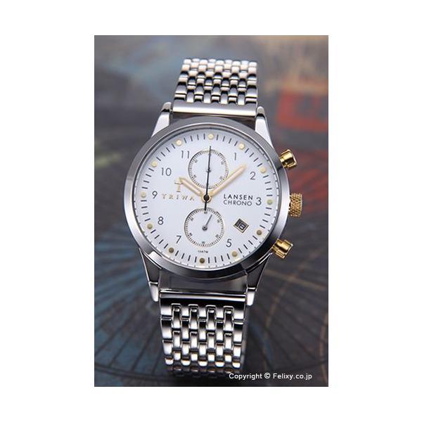 トリワ 時計 メンズ TRIWA Ivory Lansen Chrono (アイボリー ランセン クロノ) スティールブレス LCST106-BR021212|trend-watch