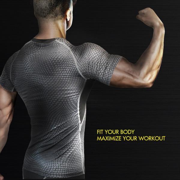 EMPT メンズ コンプレッションウェア コンプレッションウェア コンプレッションインナー スポーツウェア スポーツシャツ トレーニングウェア 夏用 夏 半袖 Tシャ|trendst|15
