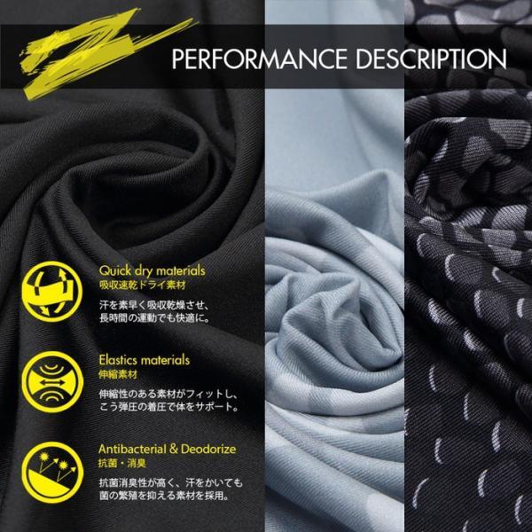 EMPT メンズ コンプレッションウェア コンプレッションウェア コンプレッションインナー スポーツウェア スポーツシャツ トレーニングウェア 夏用 夏 半袖 Tシャ|trendst|06