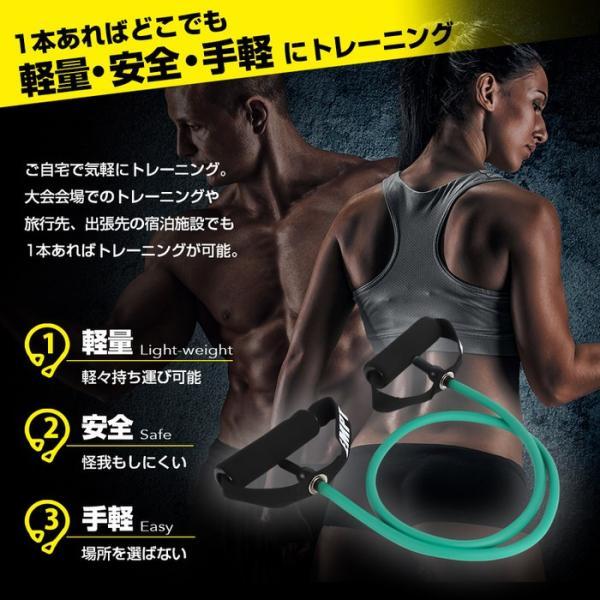 トレーニングチューブ ノーマル トレーニングチューブ フィットネスチューブ ストレッチ 筋トレ ダイエット 肩 背中 腰 腕 胸  筋肉 ストレッチ チューブトレー|trendst|04