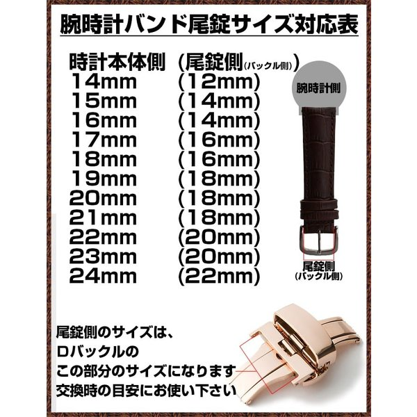 腕時計替えバンドCOLORS Dバックルタイプ ホワイト 22mm 替えベルト メンテナンス|trendsttwo|13