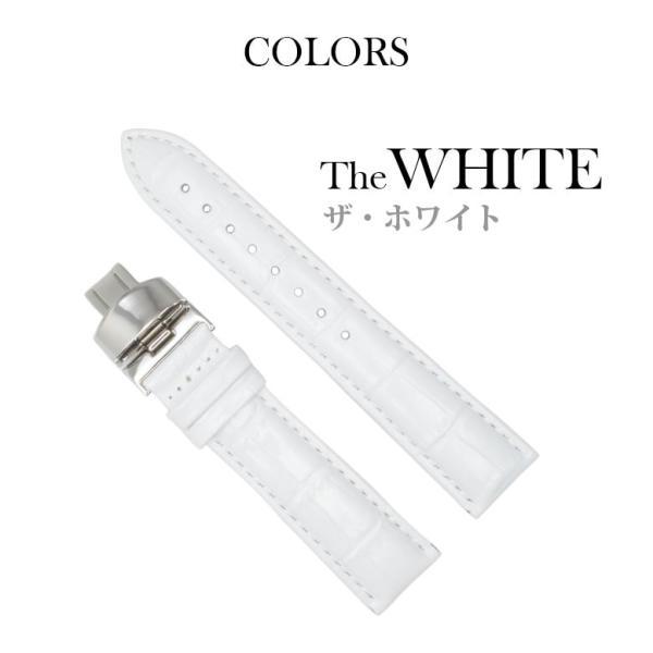 腕時計替えバンドCOLORS Dバックルタイプ ホワイト 22mm 替えベルト メンテナンス|trendsttwo|07