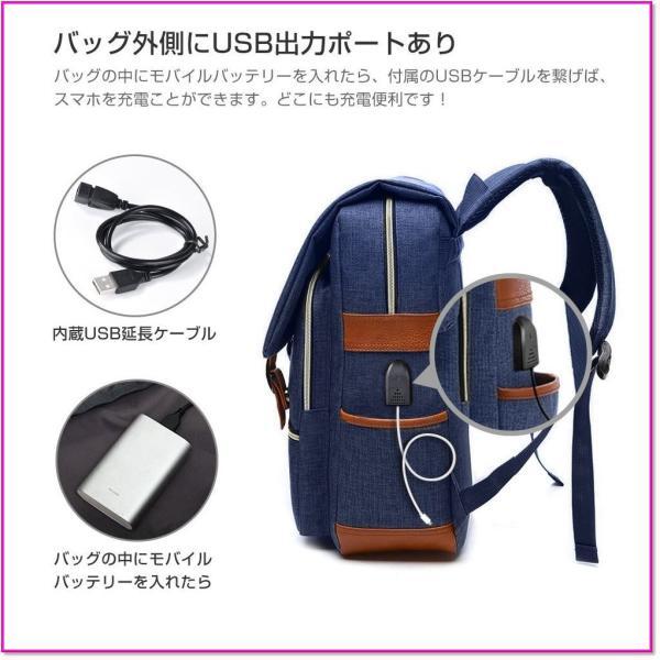 バックパックUSBポート大容量耐衝撃USB充電ポート搭載防水PCバッグ通勤通学旅行出張男女兼用多機能リュック 0176 trepakgogo 02