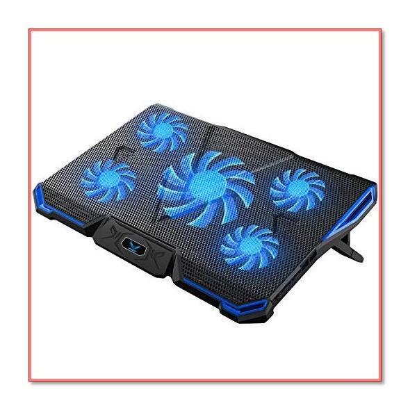 冷却パッド ノートパソコン冷却ファン クール5ファン 超静音風量調節可 7段階角度調整 2口USBポート付 0910|trepakgogo