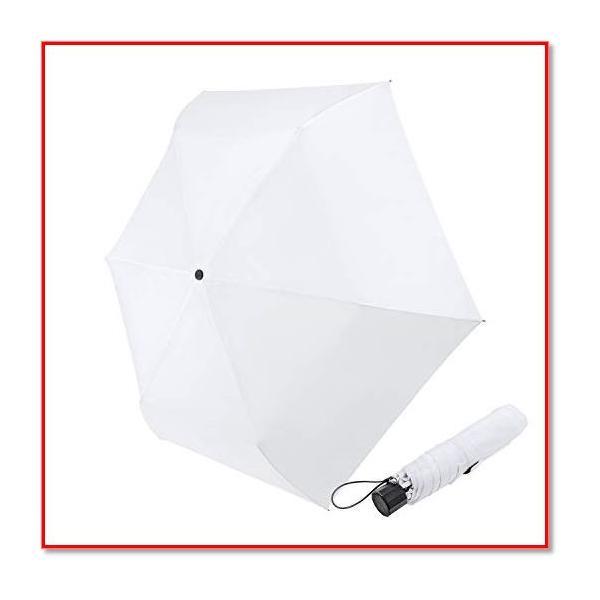 おりたたみ傘 レディース 軽量 手動開閉 折り畳み傘 おしゃれ 超撥水 ホワイト  1983