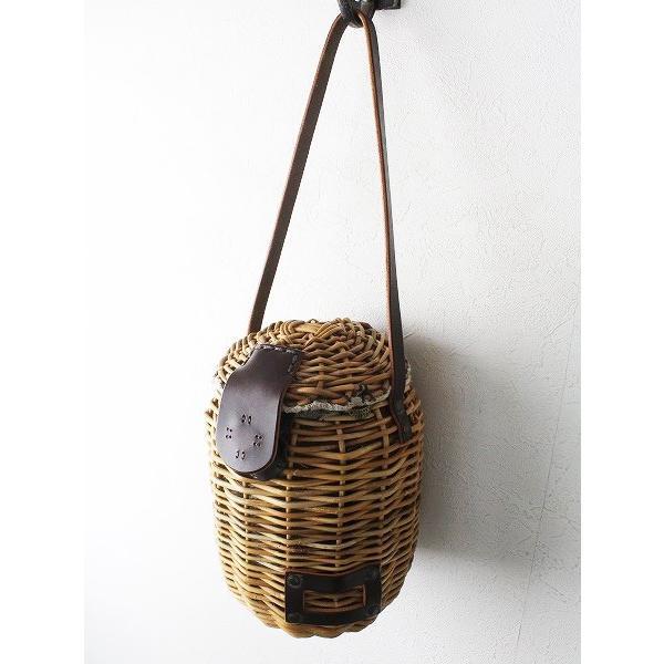 ebagos エバゴス バケツ型 ブライドルレザー × 紅籠 ポシェット/ナチュラル 鞄 カバン 2400010847981