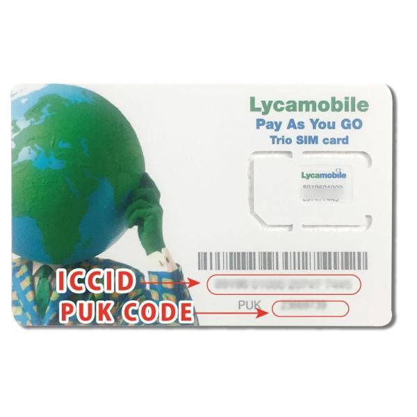 ハワイ・アメリカ用SIMカード(Lycamobile) 通話・SMSし放題 データ容量1GB 日本の固定通話可能/携帯電話へも1ドル分可能|trianglesjp|04