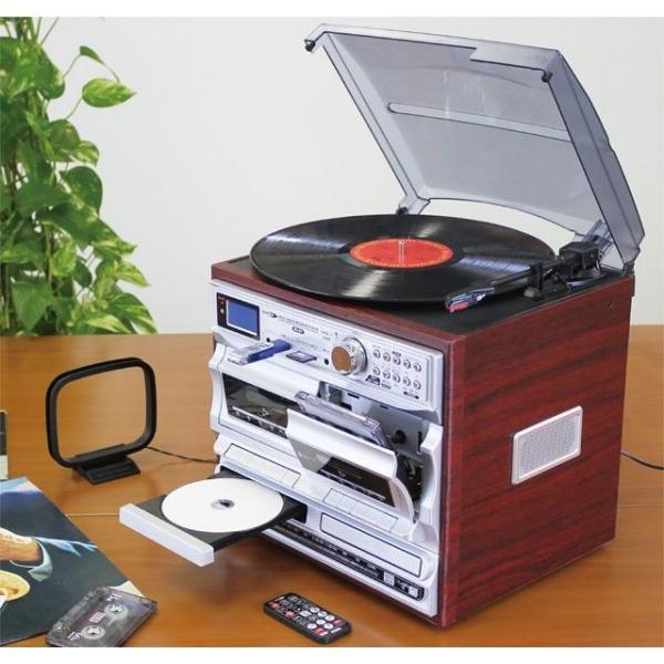 Bearmax マルチ・オーディオ・レコーダー/プレーヤー MA-811(レコード カセットテープ CD デジタル アナログ SD USB 新生活応援セット 家電)|tricycle