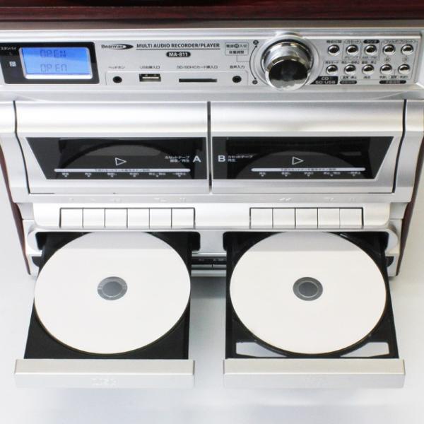 Bearmax マルチ・オーディオ・レコーダー/プレーヤー MA-811(レコード カセットテープ CD デジタル アナログ SD USB 新生活応援セット 家電)|tricycle|04