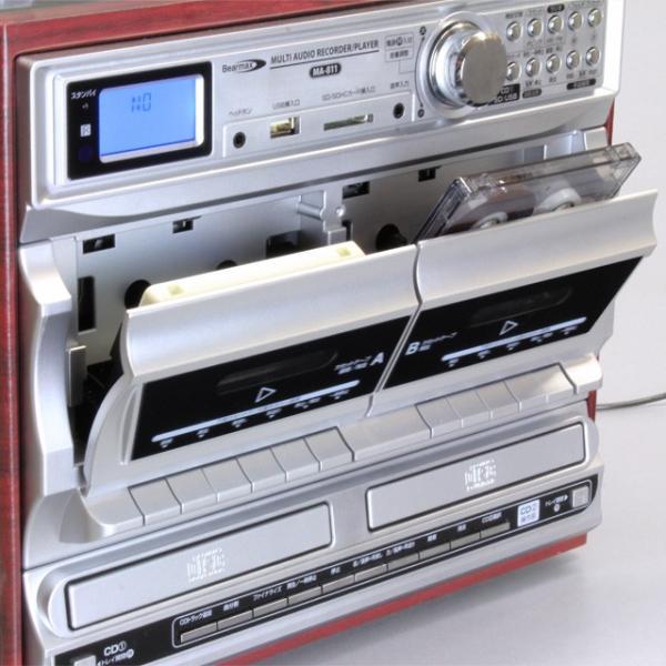 Bearmax マルチ・オーディオ・レコーダー/プレーヤー MA-811(レコード カセットテープ CD デジタル アナログ SD USB 新生活応援セット 家電)|tricycle|05