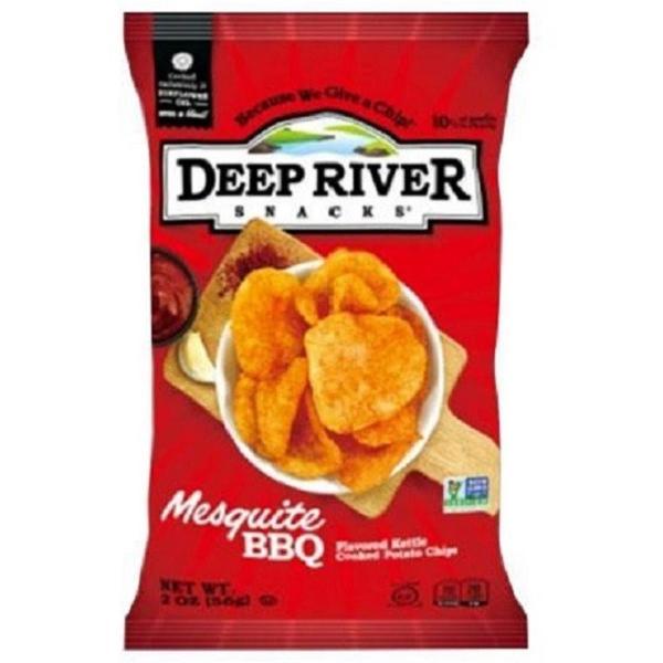 ディープリバースナックス メスキートBBQ×24袋(ポテトチップス メーカー 高級品 箱買い スナック菓子 おやつ おつまみ セット ギフト)
