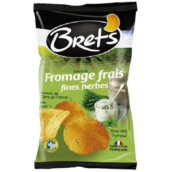 Brets ブレッツ ポテトチップス フロマージュ&ハーブ 125g×10袋(ポテトチップス メーカー 高級品 箱買い スナック菓子 おやつ おつまみ セット ギフト)