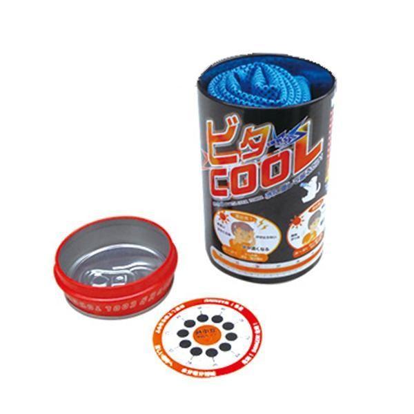 高機能冷感タオル ビタクール 熱中症予防カード付 BR-555NC(熱中症対策 グッズ タオル クールネック 脱水症状)