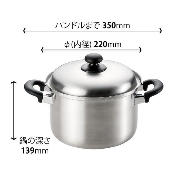 燕三 ENZO 三層鋼 パスタポット22cm(日本製 パスタポット 両手鍋 コランダー) tricycle 03
