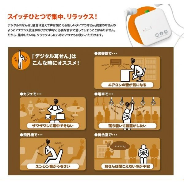 キングジム デジタル耳せん MM1000(耳栓 防音 高性能 イヤーウィスパー イヤーマフ 騒音)|tricycle|05