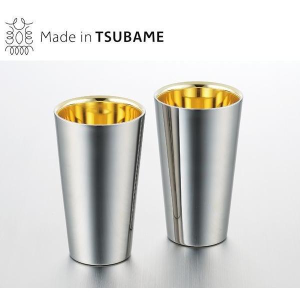 メイド・イン・ツバメ ステンレスW構造(内面24金メッキ) タンブラー2pc 300ml Made in TSUBAME|tricycle|02