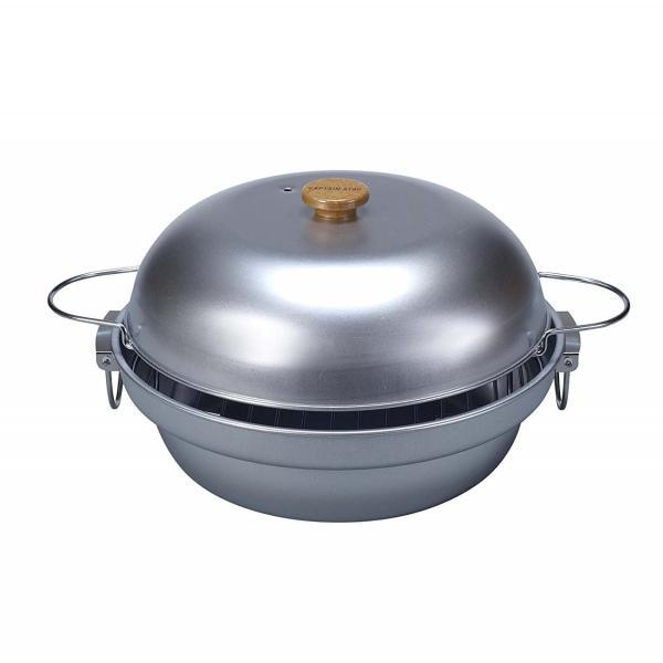 CAPTAIN STAG 大型 燻製鍋 31cm M-6548(燻製器 スモーカー 料理 屋外用 キャンプ)