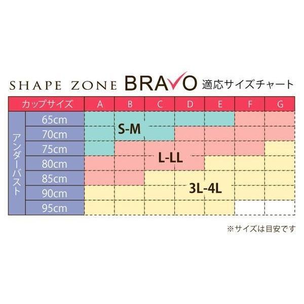 Shape Zone シェイプゾーン BRAVO ブラボー スペシャルエディション featuring 山本モナ ブラ 3枚セット(ブラジャー ノンワイヤー わき肉)|tricycle|08
