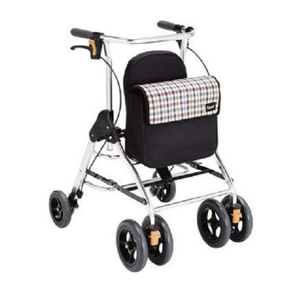 歩行車 屋外用 テイコブリトル HS05(歩行器 高齢者 タイヤ ブレーキ付き コンパクト シルバー カー 介護 用品)