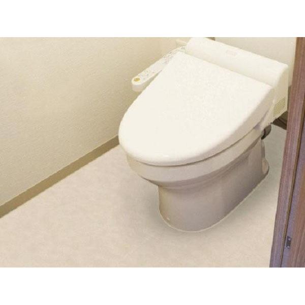 防水模様替えシート トイレ床全面用 90cm×200cm(無地 床 フロア シート フローリング 傷防止)|tricycle