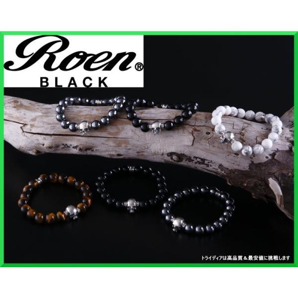 スカル 天然石 ブレスレット メンズ RoenBLACK ロエンブラック