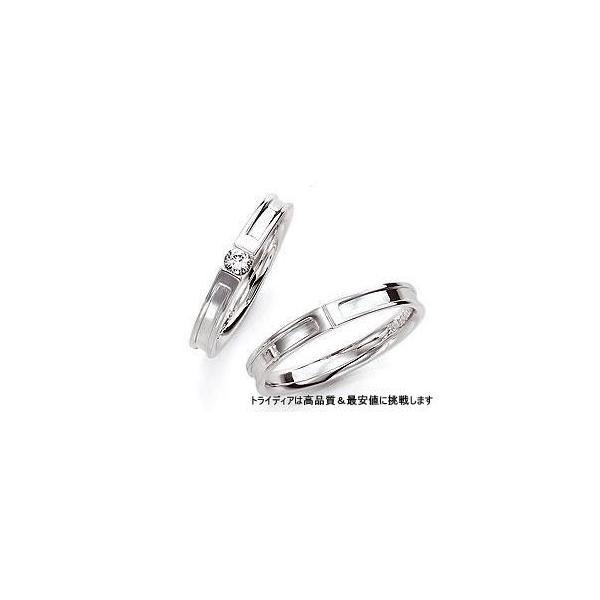 ProudプラウドPD109写真左Pt900プラチナリング結婚指輪マリッジ|trideacoltd