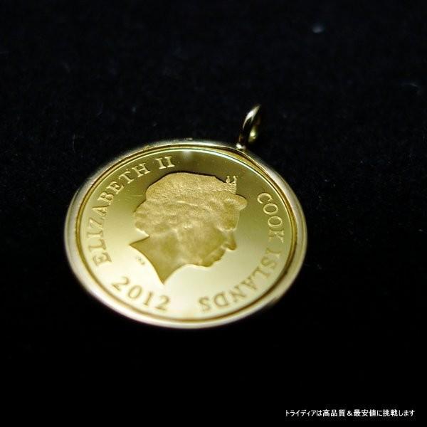 2012年記念 純金 テディベア コイン k18スクリューチェーン付|trideacoltd|04