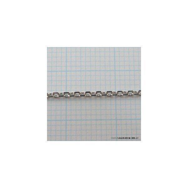 アズキネックレスK18WG幅1.1mm45cm3.3gメンズ レディース チェーンスライドP04