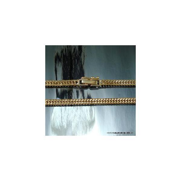 喜平ネックレス6面ダブル18金 幅2.7mm40cm10gレディース チェーン中折造幣局検定P|trideacoltd|03