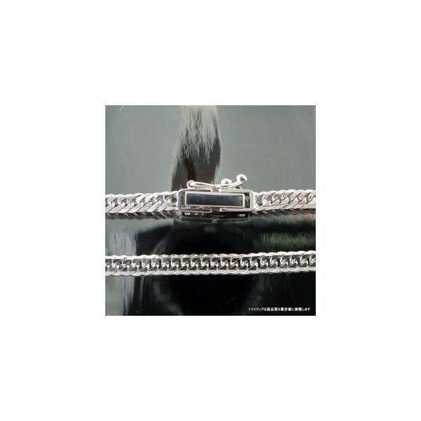 喜平ブレスレット8面トリプルK18WG幅3mm18cm4.9-5gレディース チェーン中折検定P|trideacoltd|02
