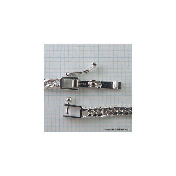 喜平ブレスレット8面トリプルK18WG幅3mm18cm4.9-5gレディース チェーン中折検定P|trideacoltd|03
