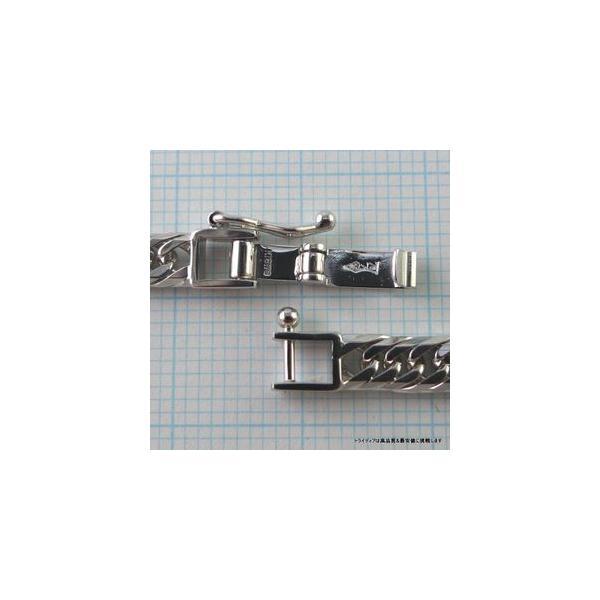 喜平ブレスレット8面トリプルK18WG幅4.4mm18cm10gレディース チェーン中折検定P08|trideacoltd|03