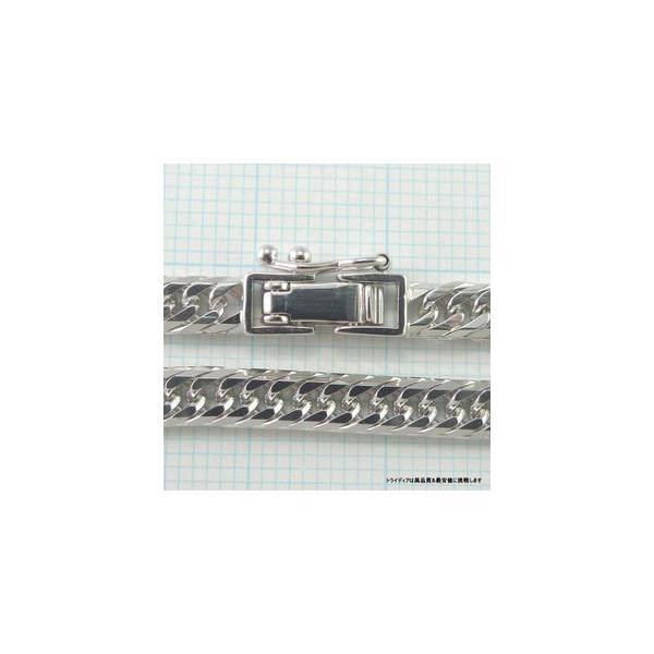 喜平ブレスレット8面トリプルK18WG幅4.4mm18cm10gレディース チェーン中折検定P08|trideacoltd|04