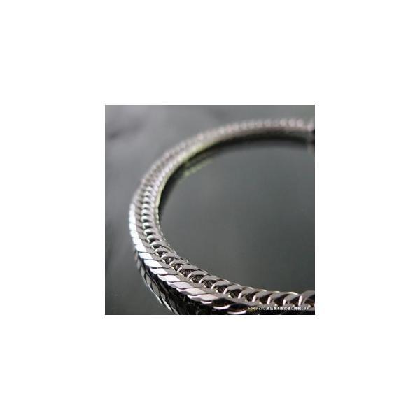 喜平ブレスレット8面トリプルK18WG幅4.4mm18cm10gレディース チェーン中折検定P08|trideacoltd|05