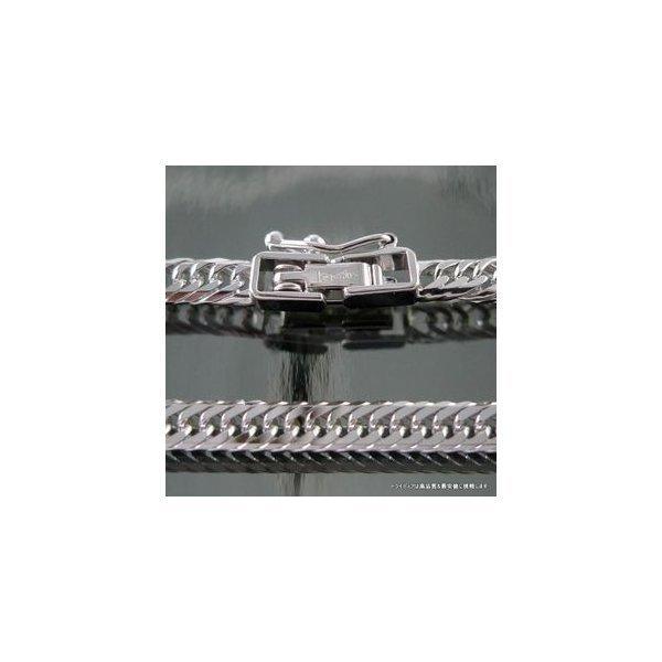 喜平ネックレス8面トリプルK18WG幅3mm50cm12.5gメンズ レディース チェーン中折検定付P|trideacoltd|02