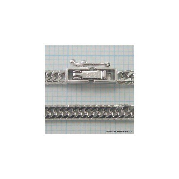 喜平ネックレス8面トリプルK18WG幅3mm50cm12.5gメンズ レディース チェーン中折検定付P|trideacoltd|05