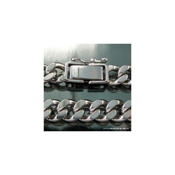 喜平 ブレスレット 2面 プラチナ PT850 幅6.1mm18cm30gレディース チェーン中折検定P173|trideacoltd|02