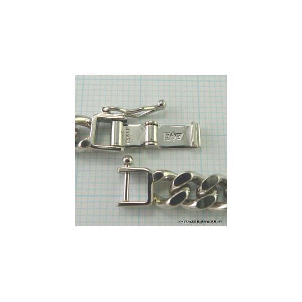 喜平 ブレスレット 2面 プラチナ PT850 幅6.1mm18cm30gレディース チェーン中折検定P173|trideacoltd|03