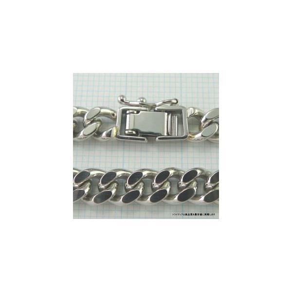 喜平 ブレスレット 2面 プラチナ PT850 幅6.1mm18cm30gレディース チェーン中折検定P173|trideacoltd|04