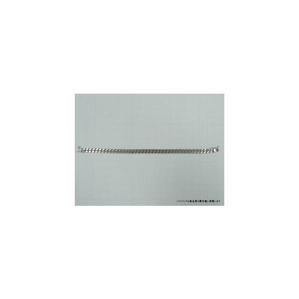 喜平 ブレスレット 2面 プラチナ PT850 幅6.1mm18cm30gレディース チェーン中折検定P173|trideacoltd|06