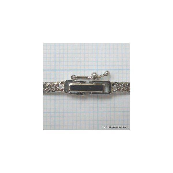 喜平 ネックレス 6面ダブル プラチナ PT850 幅2.3mm40cm10gレディース チェーン中折P|trideacoltd|02