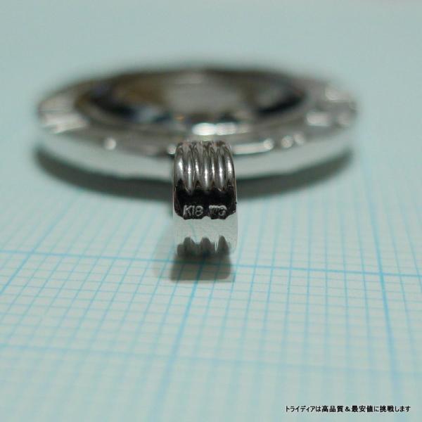 プラチナ ツバル ホースコイン 1/25oz ペンダント7.6g K18WG 青 g|trideacoltd|06