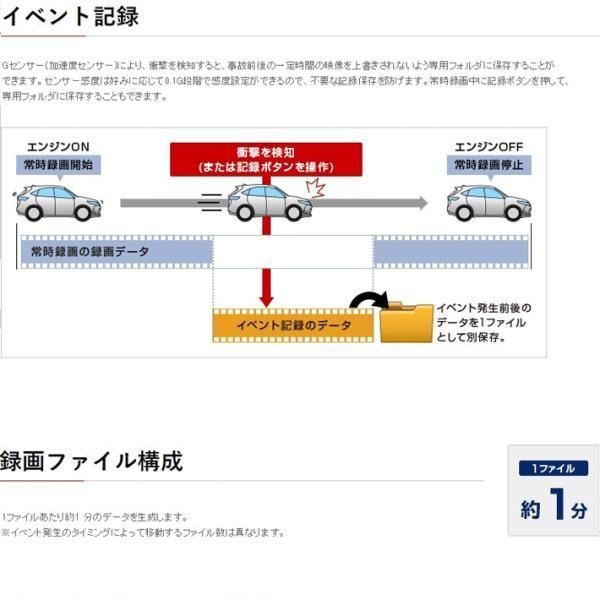 ドライブレコーダー ユピテル DRY-SV550P ブラケット一体型 Gセンサー搭載|trim|07