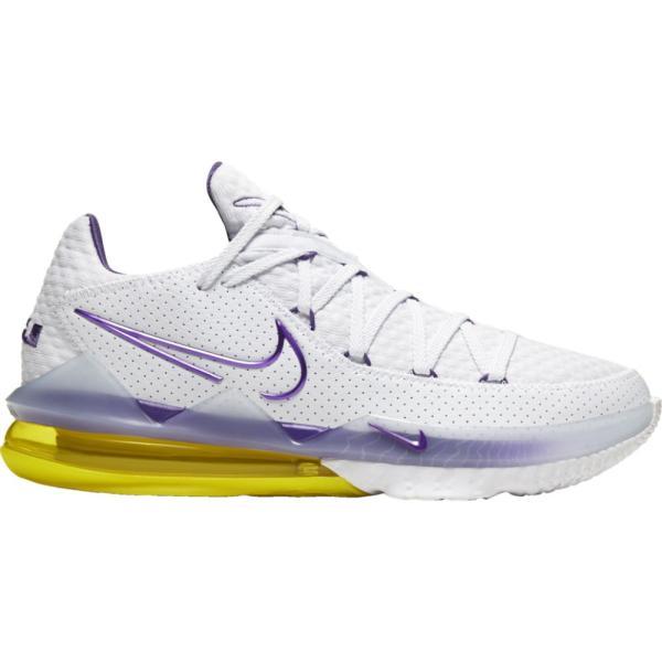 """ナイキ メンズ レブロン17 ロー Nike LeBron 17 Low """"Lakers"""" バッシュ White/Voltage Purple/Dynamic Yellow"""