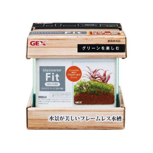 GEX グラステリア フィット 100CUBE 小型フレームレス水槽